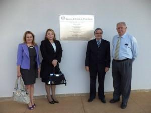 As juízas Edna e Aldina, com o juiz Marcos Henrique Caldeira Brant e o presidente da 100ª Subseção da OABMG Francisco Massara Gabrich