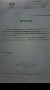 Comunicado informa o encerramento  as atividades
