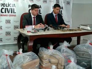 Polícia apreende 560 kg drogas em Santa Luzia Foto: divulgação Polícia Civil MG