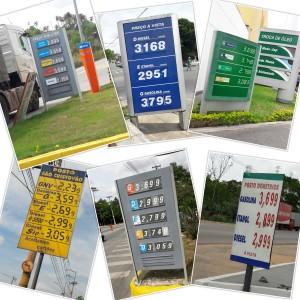 Comparativo de preços dos combustíveis em Santa Luzia. Fotos: Ramon Damásio/VN