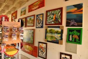Artes expostas no show room