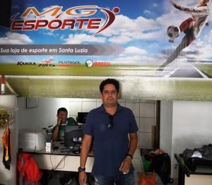 Dartanhan Durães é um incentivador do futebol amador de Santa Luzia - Foto: Ramon Damásio/Virou Notícia