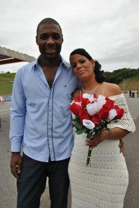 Ana Paula e Saulo moram juntos há 10 anos. Agora, casados, de fato.