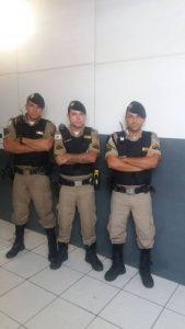 Alguns dos Militares que participaram da ocorrência