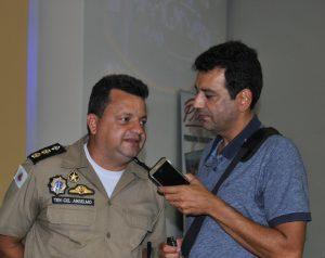 Comandante do 35o. Batalhão PMMG - Tenente Coronel Anselmo