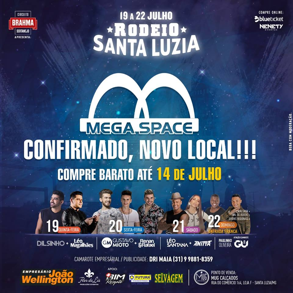 Circuito Rodeio 2018 : Rodeio santa luzia será realizado no mega space jornal virou notícia